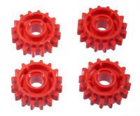 LEGO Technik - 4 x Zahnrad rot mit Kupplung zweiseitig 16 Zähne / 18946 NEUWARE