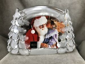 "Mikasa Crystal Winter Star Picture Frame 8.75"" Wide Germany Holiday Christmas"