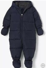 NWT Baby Gap Cold Control Down Puffer Snowsuit 0-6 Months Fleece Lined with Hood