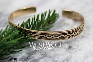Celtic Twist Design Bracelet - Bronze --- Viking/Norse/Medieval/Gold/Bangle/Torc