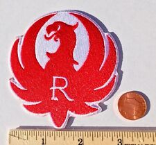 """RUGER BIRD FIREARMS RED/WHITE*Firearm Embroidered Iron On Patch*3.25"""""""