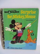Little Golden Book 1972 Surprise for Mickey Mouse