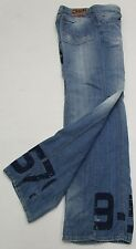 D&G DOLCE&GABBANA Relaxed Fit Graphic Spell Out Relaxed Button Fly Jeans Size 36