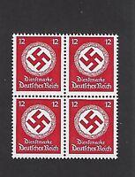 MNH stamp block / Large Nazi Swastika /  1942 PF12 / Third Reich / Nazi Germany