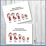 10 PERSONALISED STICK FAMILY CHRISTMAS CARDS XMAS GREETINGS CARD WITH ENVELOPES