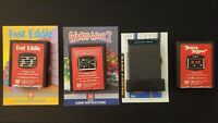 Atari 2600 Lot Of 4 Fast Eddie, Beany Bopper,  Worm War I Tested with Manuals