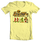 Burger Time T-shirt retro 80's arcade video game vintage 100% cotton graphic tee
