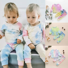 Toddler Baby Girls Boys Tracksuit Set Long Sleeve Tops + Pants Clothes Outfits