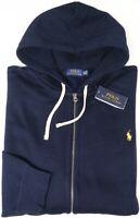 NEW $125 Polo Ralph Lauren Hoodie Navy Blue Long Sleeve Hooded Sweatshirt Mens