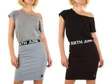 Damenkleider mit One Shoulder-Ausschnitt aus Polyester in Übergröße