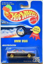 HOT WHEELS 1991 BLUE CARD BMW 850I #255 W/ GOLD UH WHEELS 04