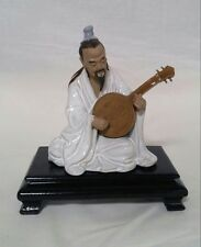 SHIWAN POTTERY FIGURE CHINESE MUSICIAN