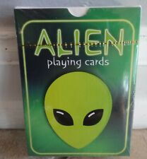 ALIEN PLAYING CARDS PLASTIC COATED CHILD ADULT POKER GAME NEW CAT RESQ