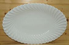 "Haviland Torse White Swirl Oval Serving Platter, 15 3/4"" x 10 3/4"""