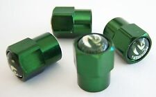 4  Green... (Nitrogen) VALVE STEM CAPS - With - N2- inlayed on the top