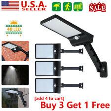 48LED Solar Power Light Wall Street PIR Motion Sensor Garden Yard Lamp IP65 US