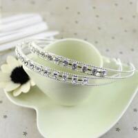 Silver Color Lady Jewelry Fashion Hair Band Headband Metal Crystal