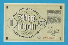Germany Winterhilfswerk WHW 1 RM 1940-41 S/B-Kroll 382a Block F