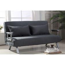 HOMCOM Convertible Sofa Bed Adjustable Sleeper Lounger Chair Living Room Bedroom