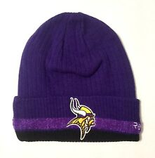 Minnesota Vikings Purple Cuffed Reebok On Field Knit Hat Beanie - Adult New