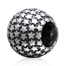 S5806 Sterling Silver Star Barrel Bead for European Charm Bracelet