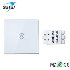 Interruptor Táctil Remoto Inalámbrico saful 12V 1 Gang 1 camino para casa inteligente luz