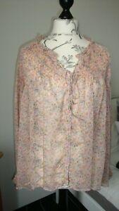 Bluse, Dänische Mode, Lykkelig, Gr 40 bis 44, Rosa Blumern