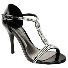 Ladies Womens Party Prom Bridal Diamante Evening High HEELS Shoes Sandals Size 5