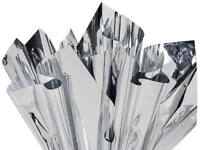 """Metallic SILVER on Both Sides Cellophane Sheets, 18""""x30"""" Choose Package Amount"""