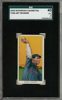 Rare 1909-11 T206 Art Fromme Sovereign 350 Cincinnati SGC 40 / 3 VG