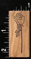 LONG STEM GARDEN ROSE FLOWER Stamp Affair Wood Mounted Rubber Stamp