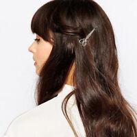 PW_ AU_ PW_ Women Scissor Patter Hairpin Barrette Bobby Pin Hair Clip Eyeful