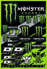 MONSTER ENERGY DECAL STICKER SHEET 40-90-102