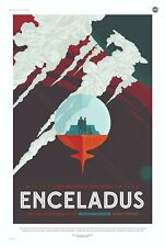 Enceladus NASA Space Travel Poster