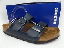 Birkenstock Men's Arizona Blue Oiled Leather Slides Sandals, SZ 10.0 M,  16666