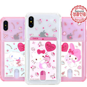 Genuine Hello Kitty Friends Card Pocket Case iPhone X/XS/XS Max/XR Case 16 Types