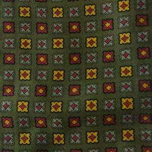 Green Yellow Reversible Foulard Ascot Cravat
