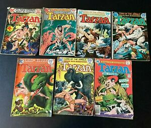 Tarzan Lord of the Jungle Lot of 7 -  210 224 226 227 228 229 256 G-VG DC Comics