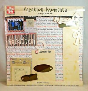 Vacation Moments Scrapbook Page Kit Paper Cardstock Frame Tags Pressed Petals