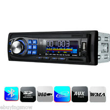 Hands-free Bluetooth USB/SD/AUX/FM In-dash Car Radio Stereo Audio Single 1 DIN