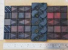letterpress wood printing blocks ornaments decorative border vintage geometric!!