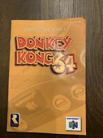 Donkey Kong 64 N64 Manual Instruction Booklet Insert ONLY - Authentic Original