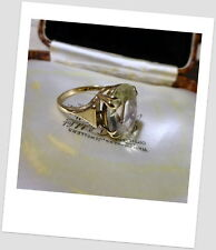 Beautiful Pale Citrine 9 Ct Gold Ring circa 1970s