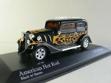 Ford American Hot Rod - MINICHAMPS - 400 142260 - Black With Flames - 1:43