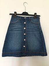 Jupe en jean H&M boutonnée denim Skirt -  T. 34 / XS