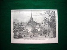 Nel 1893 il padiglione contenente le ceneri dell'ultimo re di Siam