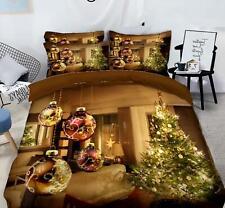 3D Innendekorationen M643 Weihnachten Steppdecke Bettbezug Christmas Bett Fay