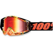 100% OCCHIALI MOTOCROSS PARADISO Racecraft ROSSO A SPECCHIO MX KTM Arancione