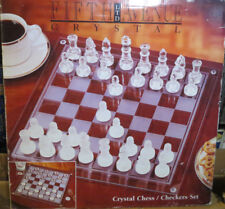 FIFTH AVENUE CRYSTAL CHESS/CHECKERS SET