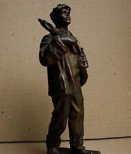 Ukrainian Russian Soviet BRONZE Statue sculpture mineworker realism Stalin era